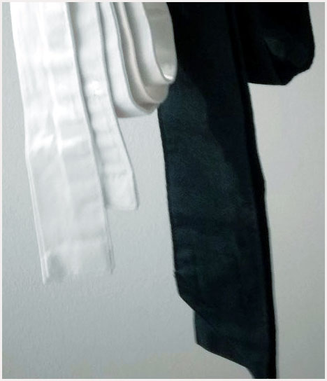 Cintura bianca cintura nera